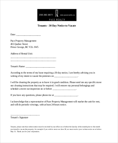 30 days notice to tenant from landlord pdf