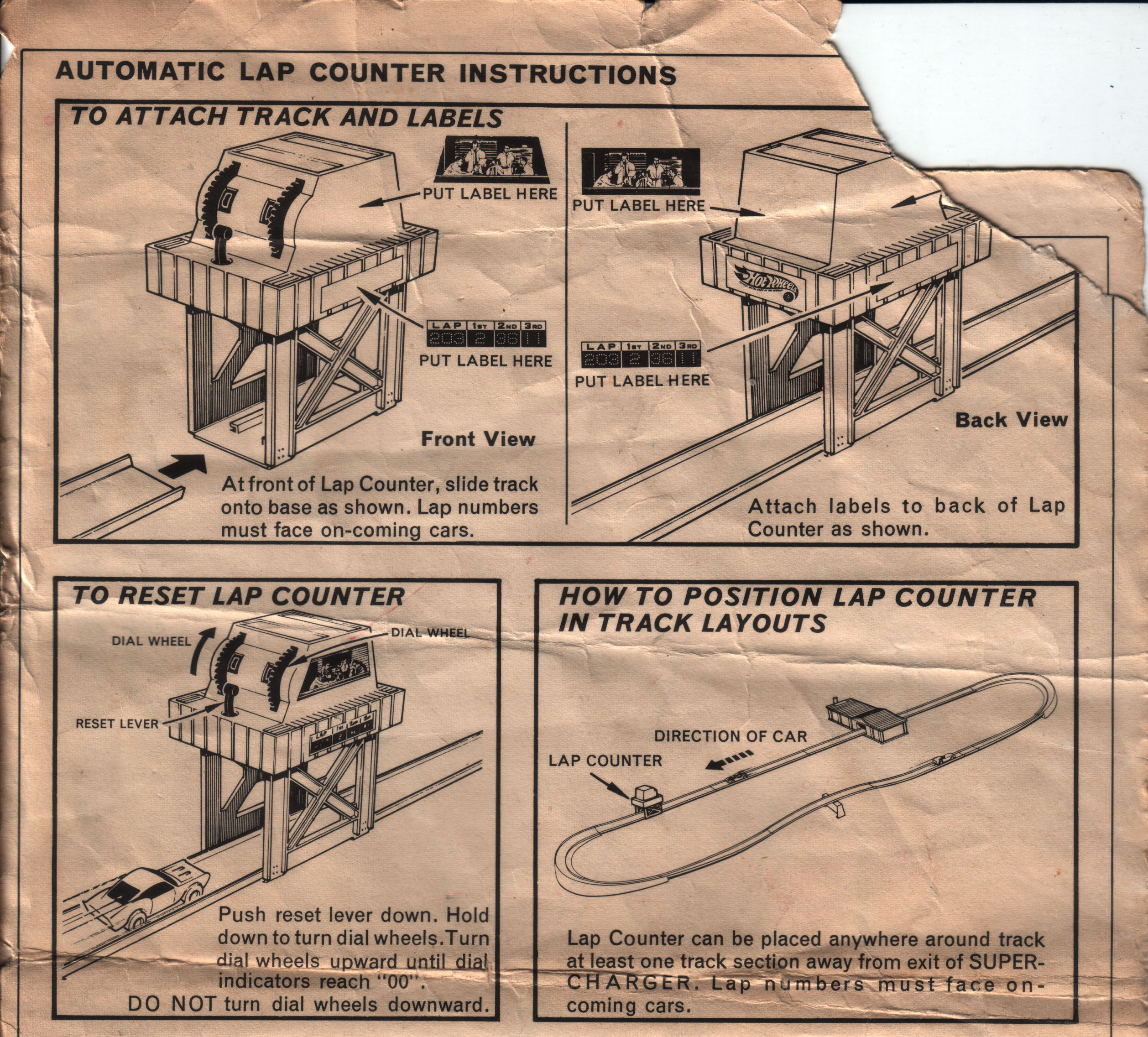 scalextric lap counter instructions