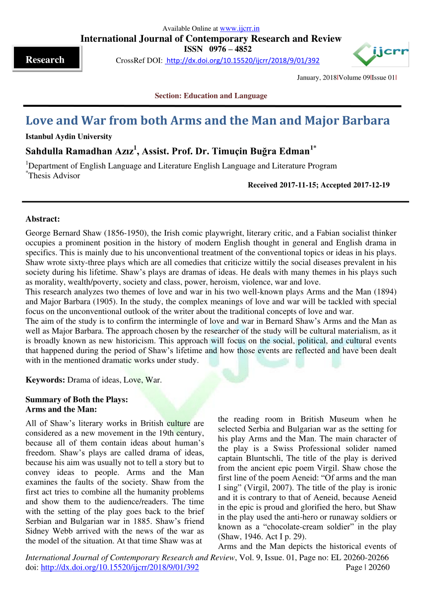 Arms and the man summary pdf