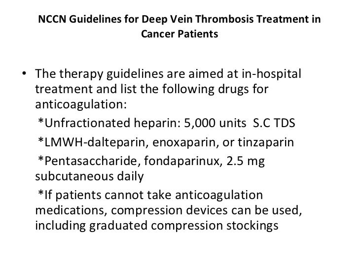 Chest guidelines superficial vein thrombosis