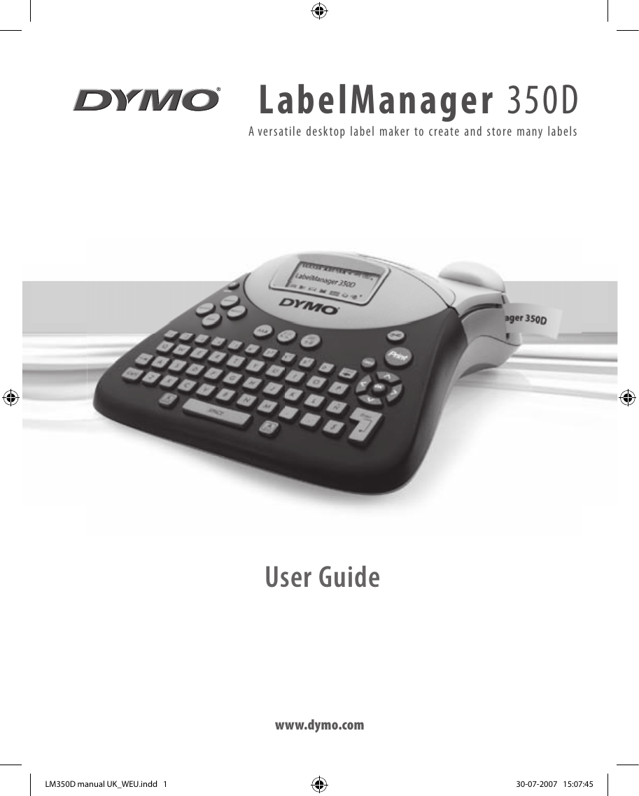 Dymo labelmanager 100 user manual
