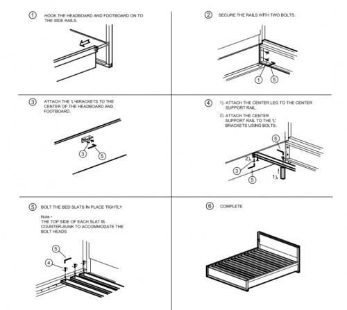 malm king bed frame instructions